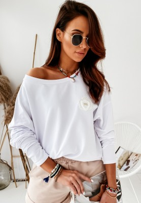 Bluza Caicos Back White