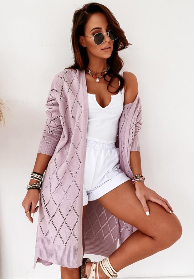 Sweter Kardigan Nekoma Lilac