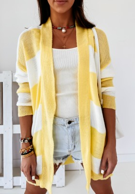 Sweter Kardigan Escot Paski Yellow