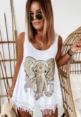 Top Africana White