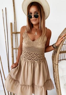Sukienka Boho Viven Camel